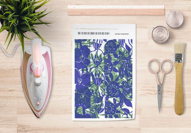 la Magie dans l'Image - Verlegung-la Magie dans l'Image-Papier transfert Végétal Bleu Vert