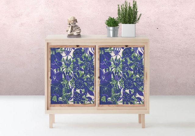 la Magie dans l'Image - Sticker-la Magie dans l'Image-Adhésif Végétal Bleu Vert