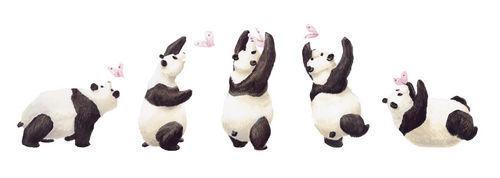 DECOLOOPIO - Kinderklebdekor-DECOLOOPIO-Les 5 pandas
