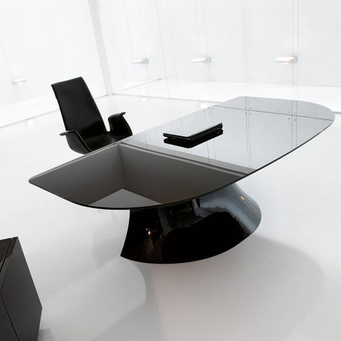 ITALY DREAM DESIGN - Direktionsschreibtisch-ITALY DREAM DESIGN-Ola-Black. Designer Mario Mazzer