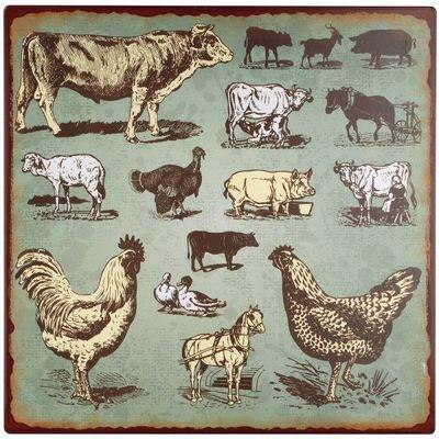 La Chaise Longue - Dekobilder-La Chaise Longue-Plaque décoration La ferme