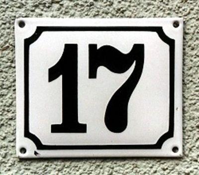Replicata - Hausnummerschild-Replicata-Emaille-Hausnummer