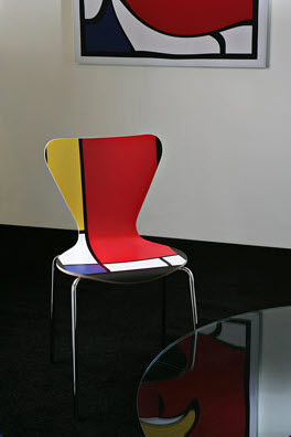 Creativando - Stuhl-Creativando-Quark Mondrian Style