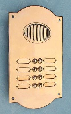 Replicata - Klingelknopf-Replicata-Klingelplatte FIRENZE zweireihig