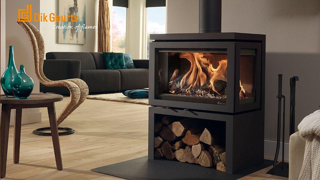 DIK GEURTS Estufa de madera Estufas e instalaciones de calefacción Chimenea   