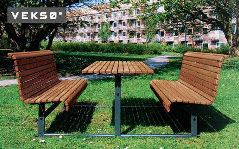 Veksø Mesa de picnic Mesas de jardín Jardín Mobiliario   