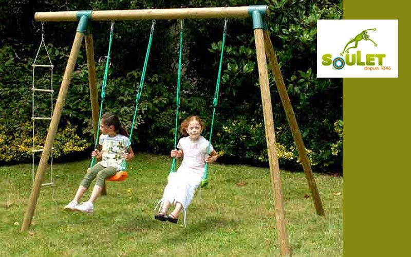 SOULET Pórtico Juegos al aire libre Juegos y Juguetes Jardín-Piscina | Rústico