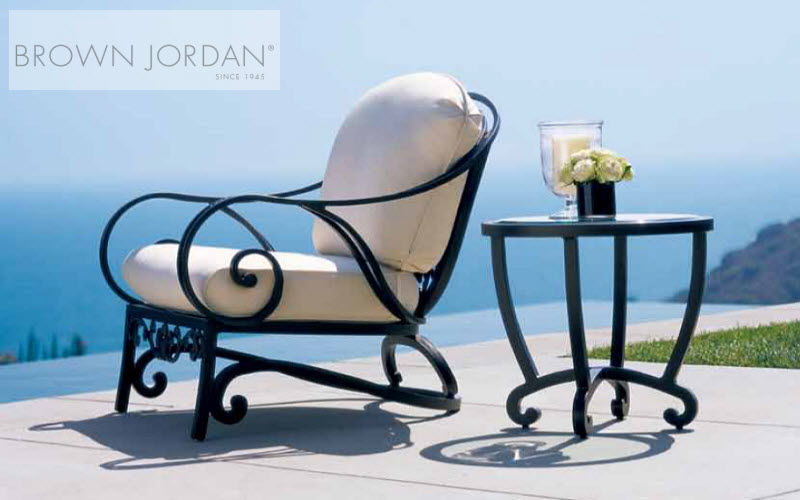 Brown Jordan Sillón de jardín Sillones de exterior Jardín Mobiliario Terraza | Clásico