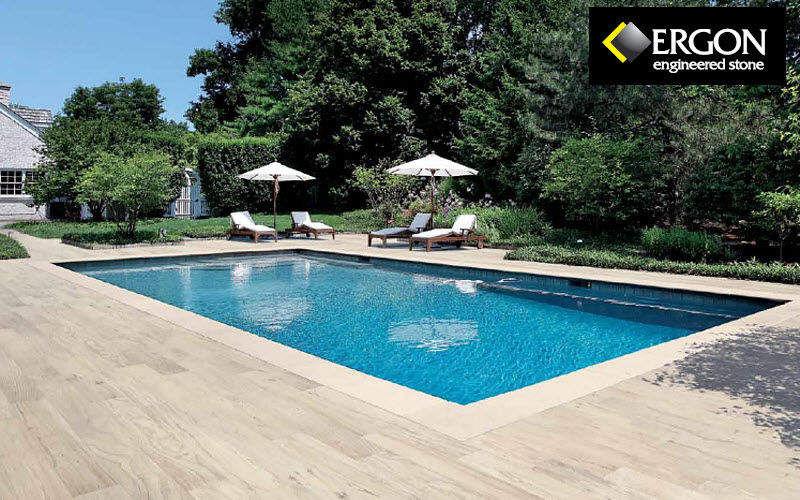 ERGON Playa de piscina Brocales & plataformas Piscina y Spa Jardín-Piscina | Design Contemporáneo