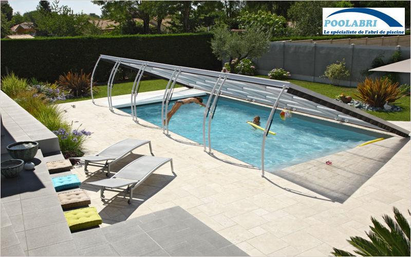 Abri piscine POOLABRI Cubierta de piscina baja clásica Cabinas de piscina Piscina y Spa Terraza | Design Contemporáneo