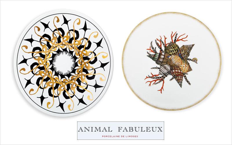 ANIMAL FABULEUX Plato llano Presenta-platos Vajilla  |