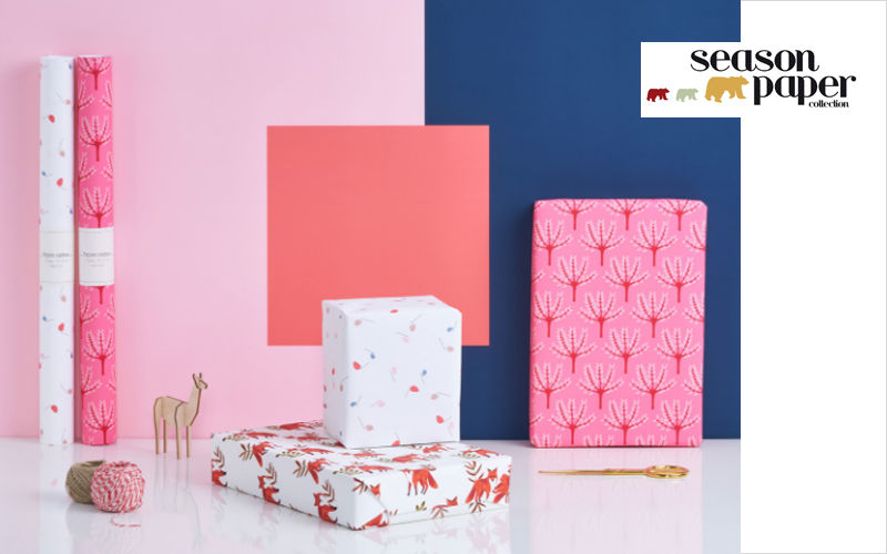 SEASON PAPER COLLECTION Papel de regalo Paquetes regalo Navidad y Fiestas  |