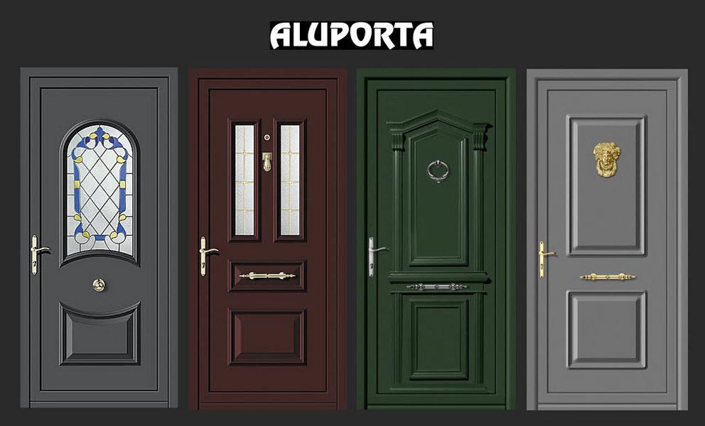 Aluporta Puerta de entrada acristalada Puertas Puertas y Ventanas  |