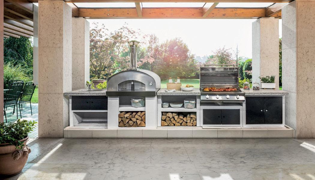 Palazzetti Cocina de exterior Cocinas completas Equipo de la cocina Jardín-Piscina | Rústico