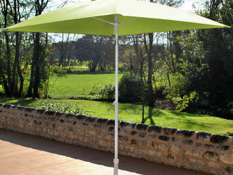 PROLOISIRS - parasol inclinable fibre de verre anis - Sombrilla