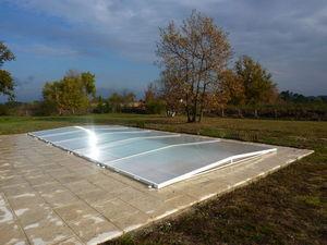 Cubierta de piscina extra plana