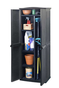 KETER - armoire haute de jardin 430 litres en résine 70x50 -