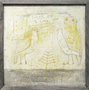 Sugarboo Designs - art print - two birds - Cuadro Decorativo