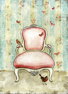 APOLONY - le fauteuil rose - Cuadro Decorativo