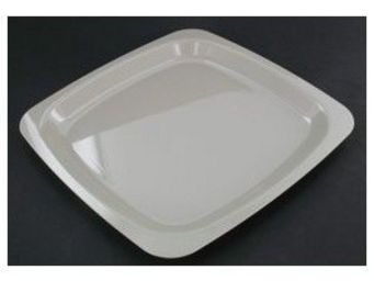 Adiserve - assiette carrée grise 18 ou 23 cm par 20 dimension - Vajilla Desechable Navidad Y Fiestas