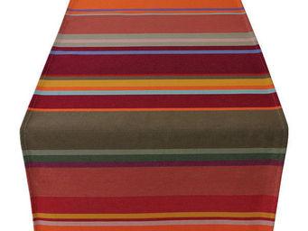 Les Toiles Du Soleil - chemin de table collioure rouge - Centro De Mesa