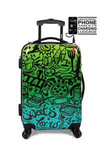 TOKYOTO LUGGAGE - comic blue - Maleta Con Ruedas