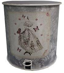 Antic Line Creations - poubelle ancienne style romantique - Papelera De Cuarto De Baño