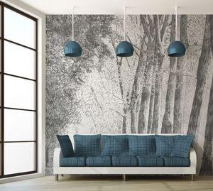 IN CREATION - forêt au crayon gris - Papel Pintado Panorámico