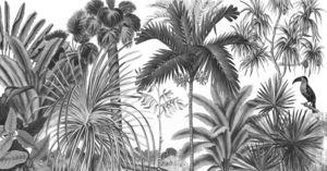 Ananbô - jarawa noir & blanc - Papel Pintado Panorámico
