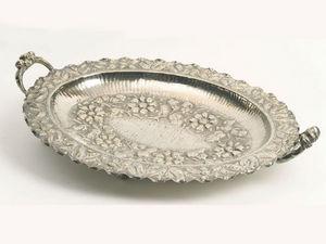 ANTIQUES LACARTA DECORACIÓN - peruvian solid silver tray  - Bandeja