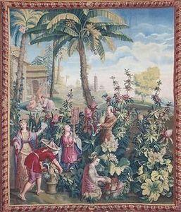 Armand Deroyan - recolte des ananas - Tapiz Antiguo