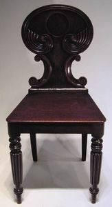 BAGGOTT CHURCH STREET - a pair of regency mahogany hall chairs in the mann - Silla