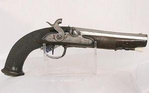 ANTIGÜEDADES LINARES - pistola chispa transformada s xviii - Carabina Y Fusil