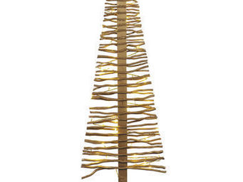 Blachere Illumination - sapin bois dor� grand mod�le - Decoraci�n De �rbol De Navidad