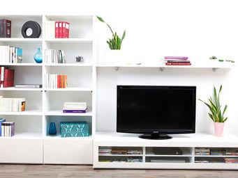 Miliboo - symbiosis compo 7 structure blanche - Mueble Tv Hi Fi