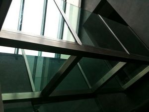 TRESCALINI - passerelle en verre et inox - Pasarela