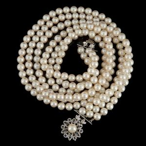 Expertissim - collier triple rangs de perles de culture - Collar