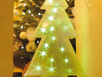 Blachere Illumination - sapin holographique blanc - Decoraci�n De �rbol De Navidad
