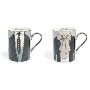 MAISONS DU MONDE - assortiment de 6 mugs mr&mrs - Taza