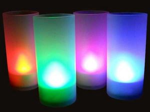 SUNCHINE - 6 bougies led colorees fonction souffle - Vela De Exterior