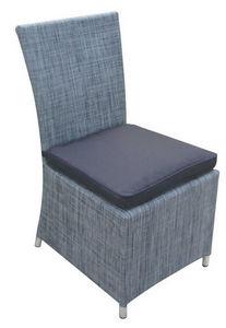 TRAUM GARTEN - chaise de jardin en textilène gris anthracite avec - Silla De Jardín