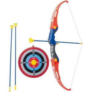 WDK Groupe Partner - set de tir à l'arc avec cible arc et flèches - Juego De Sociedad