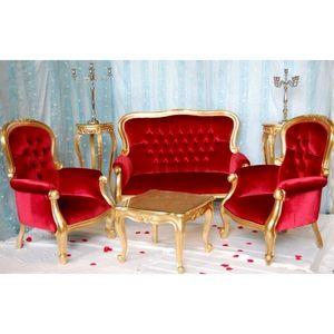 DECO PRIVE - fauteuil et banquette baroque pack 13 - Salón