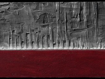 DEZIN-IN - rosso materico - Obra Contemporánea