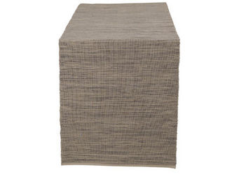 Athezza Home - chemin de table ribbed beige 150x40cm - Centro De Mesa