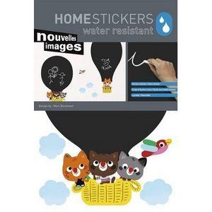 Nouvelles Images - stickers ardoise montgolfière nouvelles images - Adhesivo
