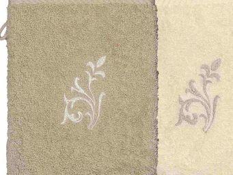 SIRETEX - SENSEI - gant eponge brodé versailles 500gr/m² coton - Guante De Aseo