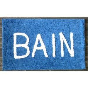 ILIAS - tapis salle de bain bain bleu - Alfombra De Baño