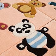 Arte Espina - tapis kids puzzle rose 150x150 en acrylique - Alfombra Para Niño