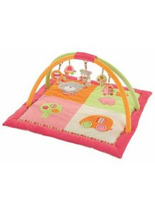 Babysun - tapis eveil holiday ours rose 85x85 - Manta De Juegos Para Bebé
